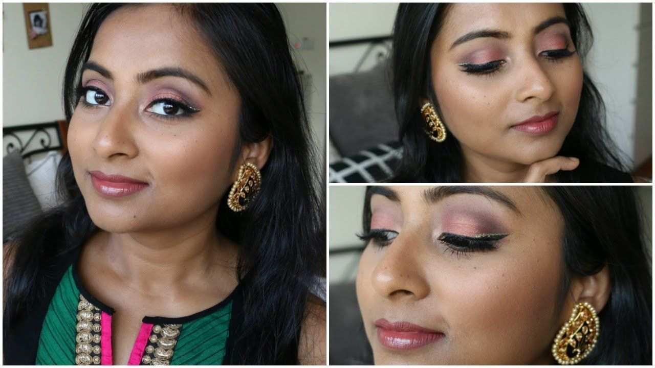 Indian Festive Makeup Tutorial 2017 Rose Gold with