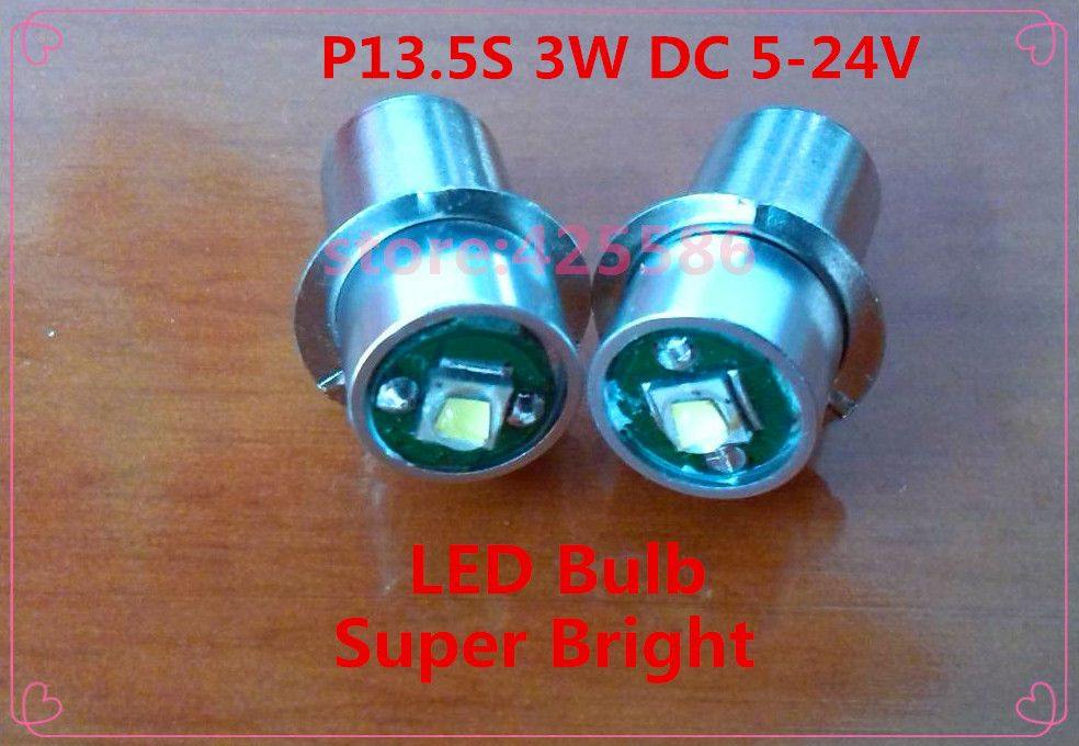 New 2 Pieces Lot Led P13 5s 3w 5v 24v Cree Recessed Screw P13 5s Led 5v 6v 12v 18v 24v 3w Base Led Flashlight Bulb Wholesale In L Led Bulb Bulb Led Flashlight