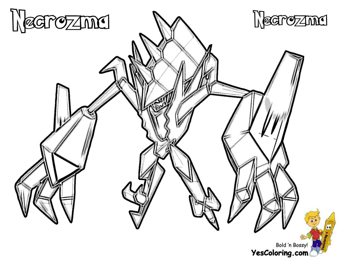 Pokemon Coloring Pages Necrozma With Images Moon Coloring