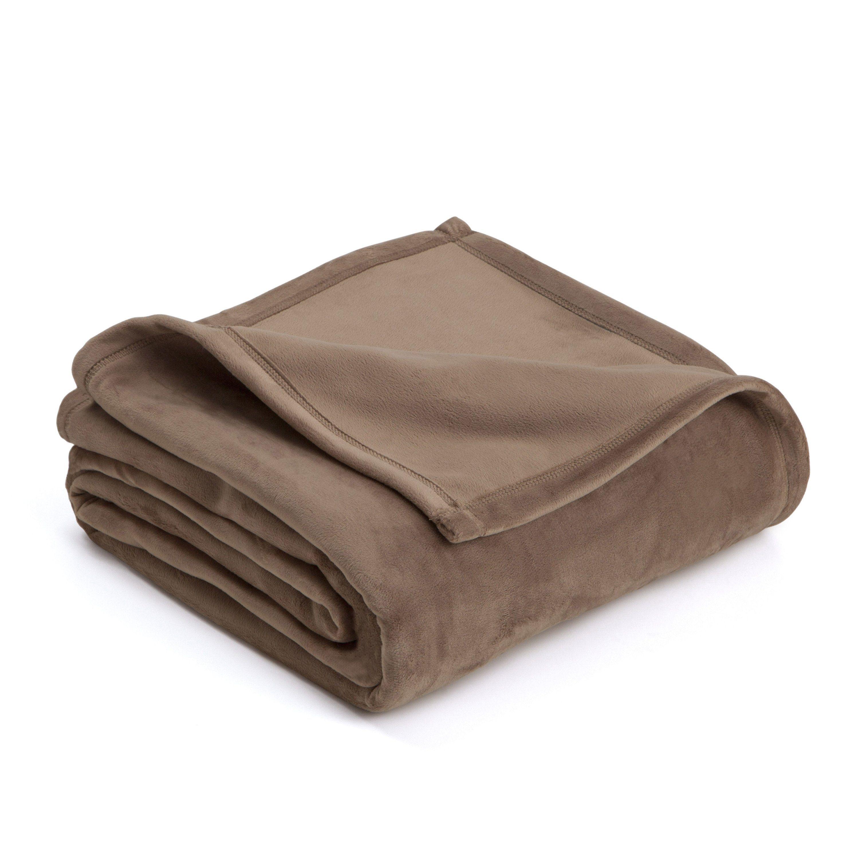 Vellux Plush Blanket - Full/Queen / Desert Taupe