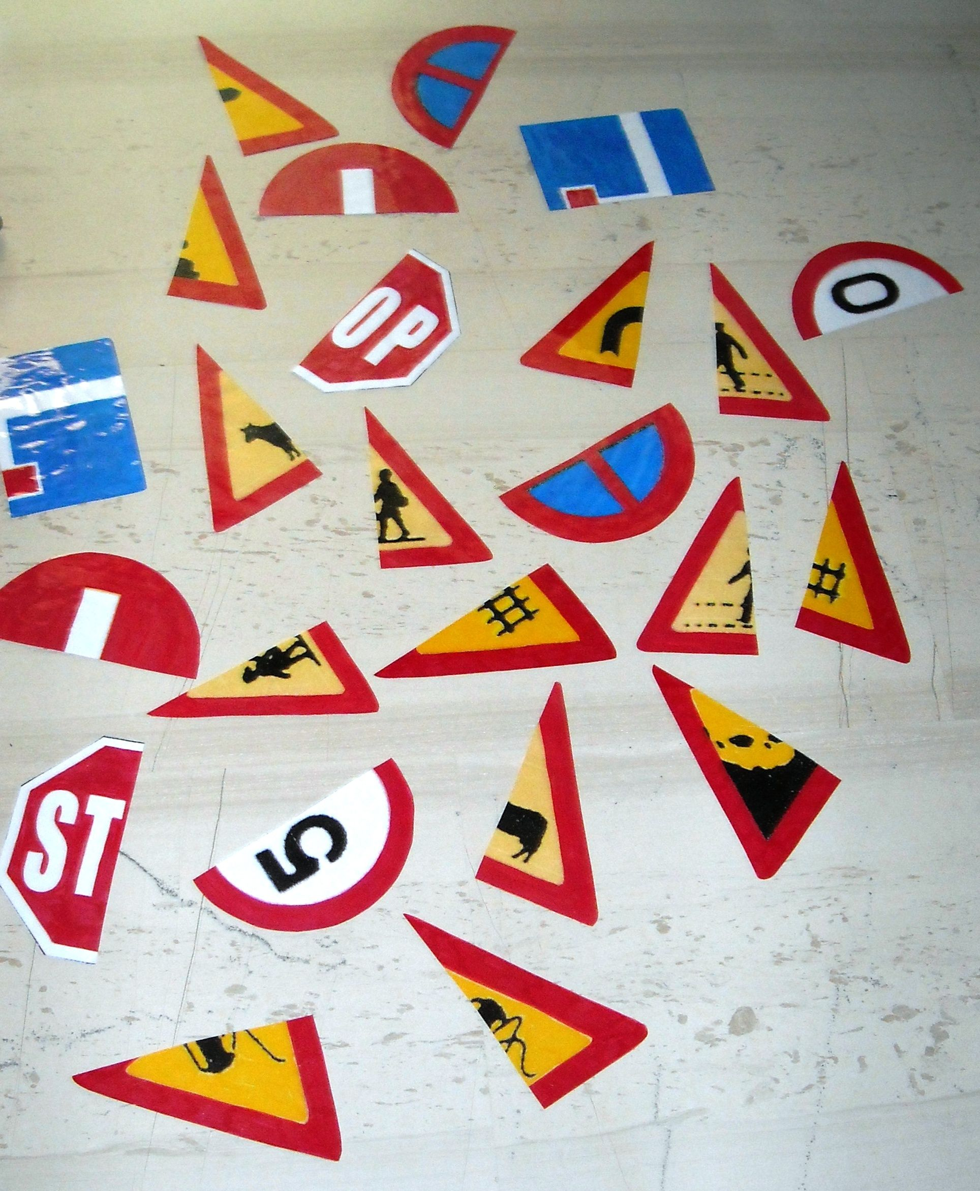 signs1 Transportation preschool, Road safety