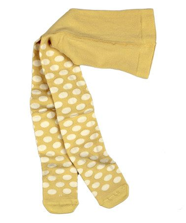 14002cc997ac8 This Yellow Pure Happiness Polka Dot Tights - Infant, Toddler & Girls by  Matilda Jane Clothing is perfect! #zulilyfinds