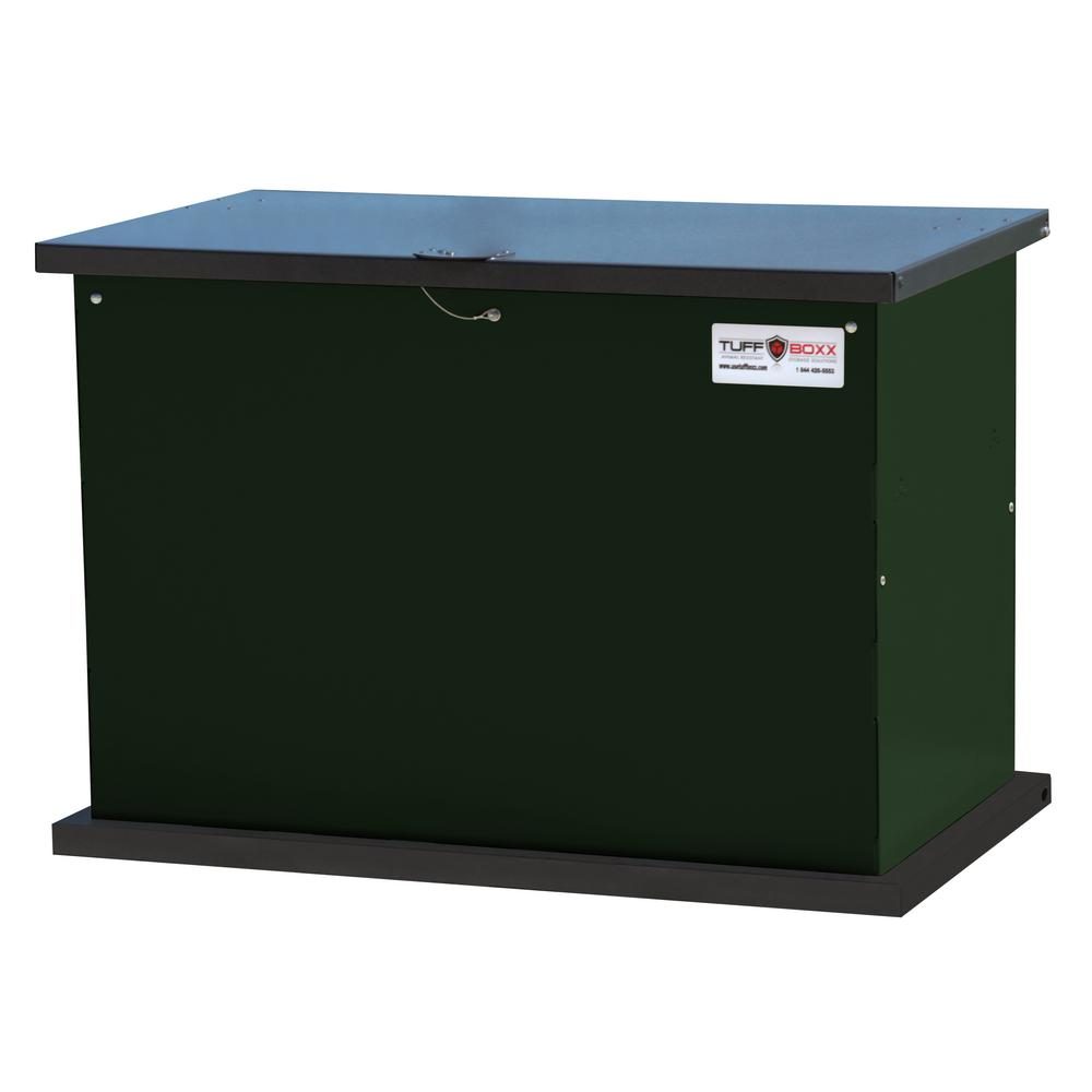 Unbranded Tuffboxx Series 137 Gal Green Galvanized Metal Bear Proof Storage Container In Green 453 013 8002 The Home Depot In 2020 Galvanized Metal Resin Storage Storage