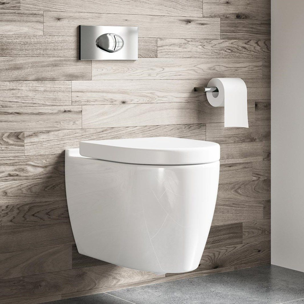 Harbour Icon Wall Hung Toilet Seat Wall Hung Frame Flush Plate 505mm Projection In 2020 Wall Hung Toilet Toilet And Sink Unit Floating Toilet