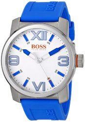 BOSS Orange Men s 1512987 Dubai Analog Display Quartz Blue Watch ... ea32fa9c7b7