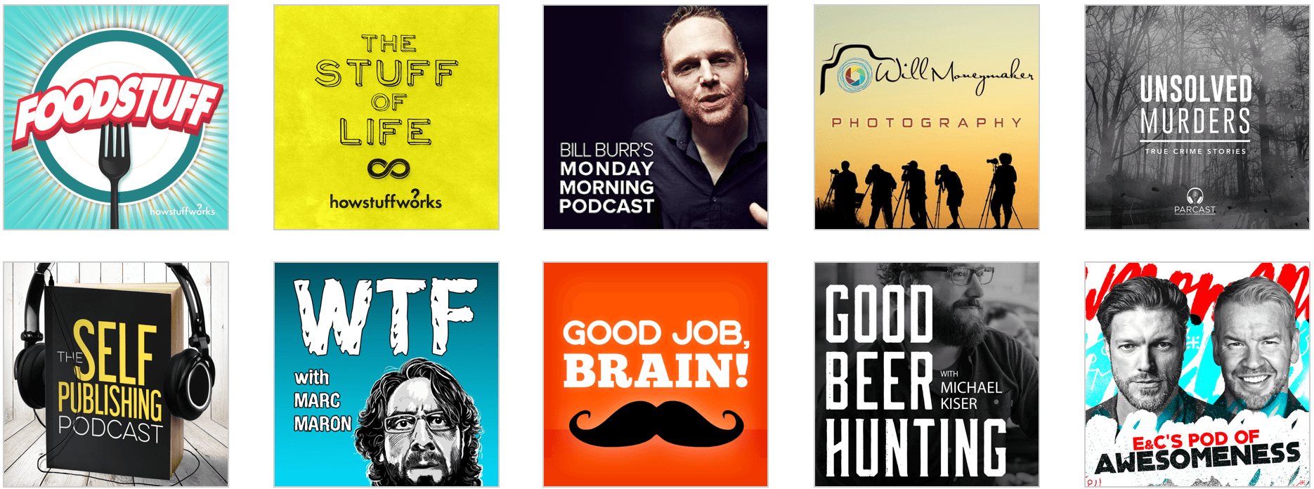 Great examples of podcast artwork Podcasting Cover art