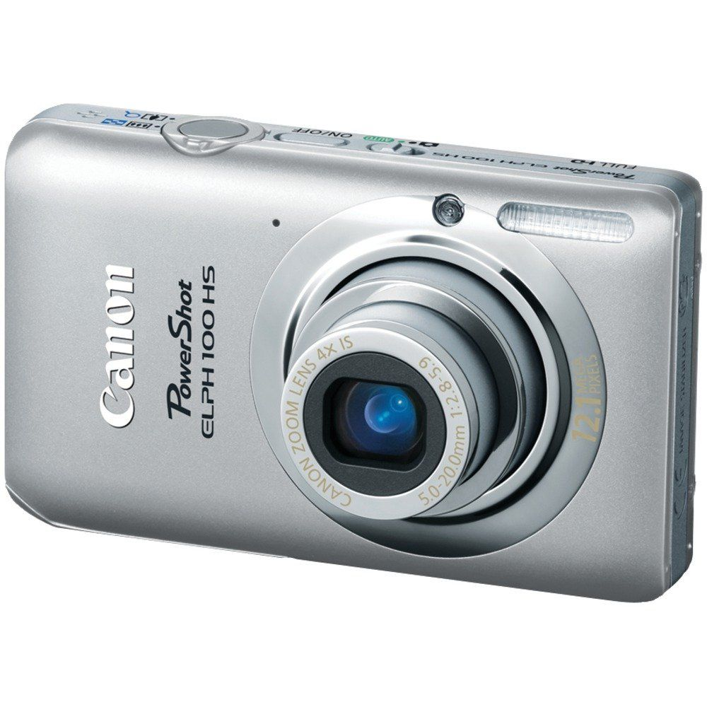 Canon PowerShot ELPH 100 HS 12.1 MP CMOS Digital Camera with 4X Optical Zoom (Silver) > Price:	$179.00  > Sale:	$151.95 > Click on the image for details and offers.