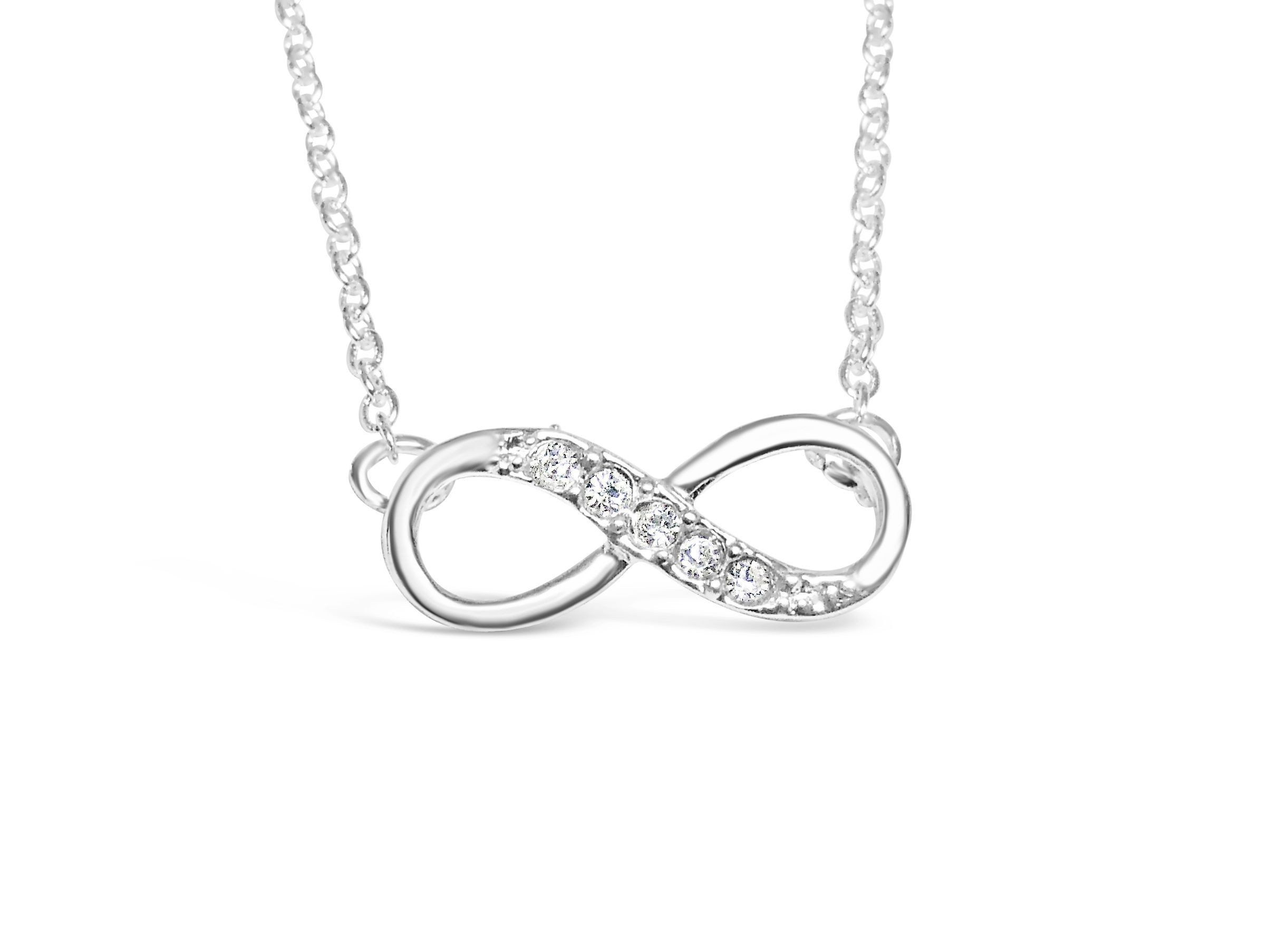 toned ca infinity silver necklace pendant