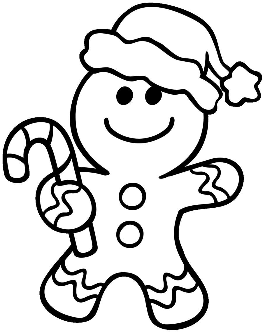 Gingerbread Man Coloring Pages Christmas NavideÑos Pinterest