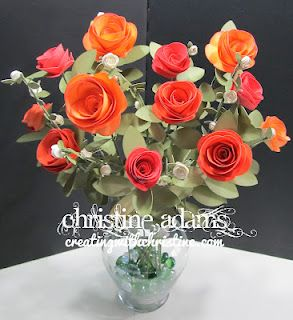Rose Flower Bouquet Created By Christine Adams Using Ctmh Art