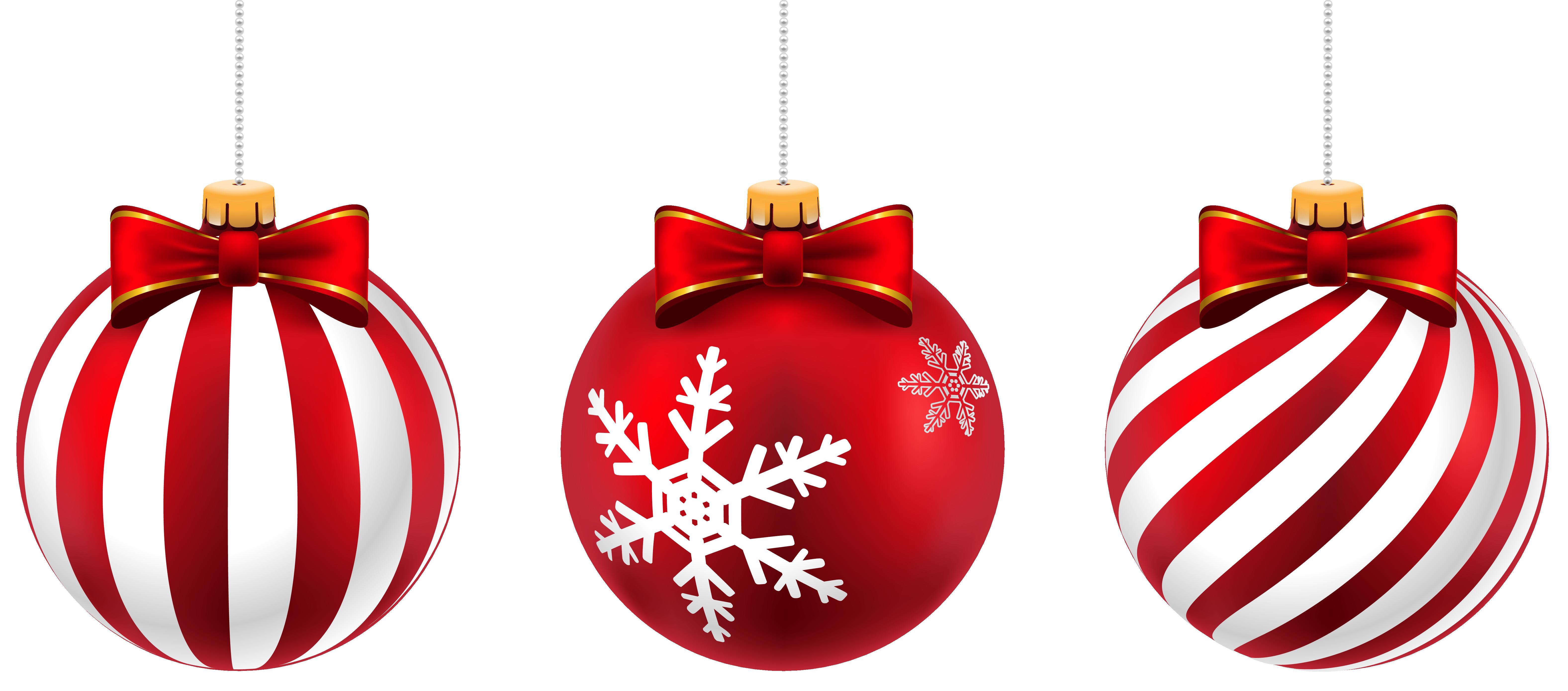 Beautiful Christmas Balls Png Clip Art Image