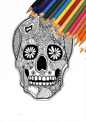 Disegni Da Colorare Di Halloween Teschi.Last Minute Teschio Giorno Dei Morti Teschio Di Halloween Pagina