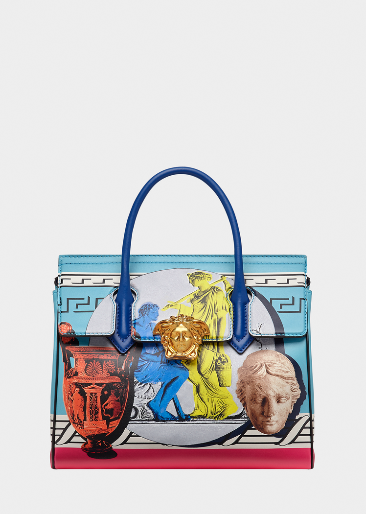 Contrast Barocco Print Palazzo Empire Bag for Women