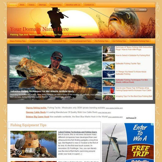 Top Fishing Online Store Business Website For Sale! Best Way