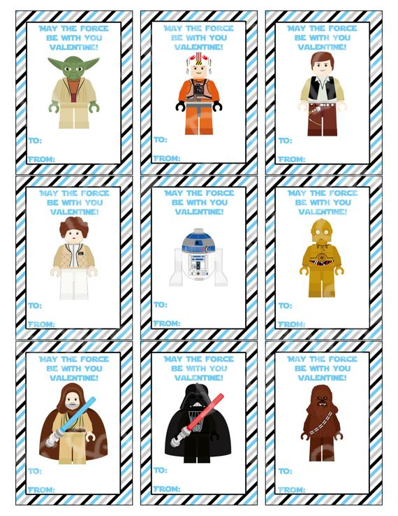 Star Wars Valentine's Day Cards, Valentine's Day Cards