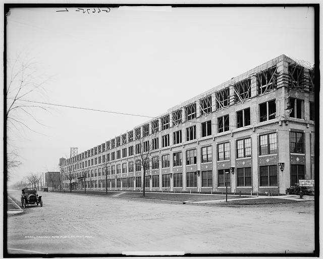 Packard Motor Car Company Auto Plant Detroit Mich Building