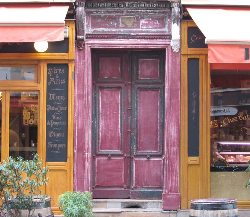 Cafe door in Paris & nothing quite like stumbling across a rustic sidewalk cafe | Doors ... Pezcame.Com