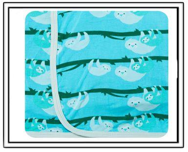 9aff7f72bff PREORDER-KicKee Pants Confetti Sloth Swaddling Blanket-kickee pants bird of  paradise swaddling blanket