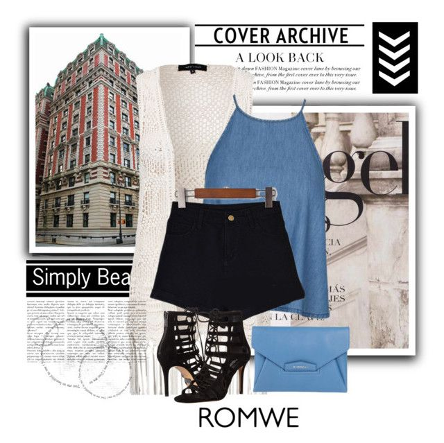 """""""romwe"""" by amelaa-16 ❤ liked on Polyvore featuring mode, New Look, Michael Kors et Givenchy"""