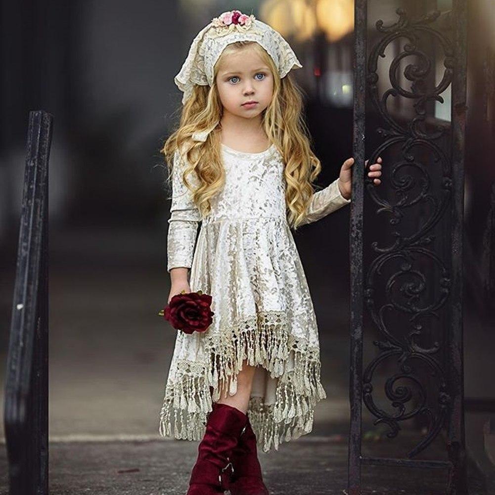S 349 Girl S Dress Tassel Velvet Size 1 5t Ohioboutiqueimporter Baby Girl Dress Toddler Girl Outfits Girls Long Sleeve Dresses [ 1001 x 1001 Pixel ]