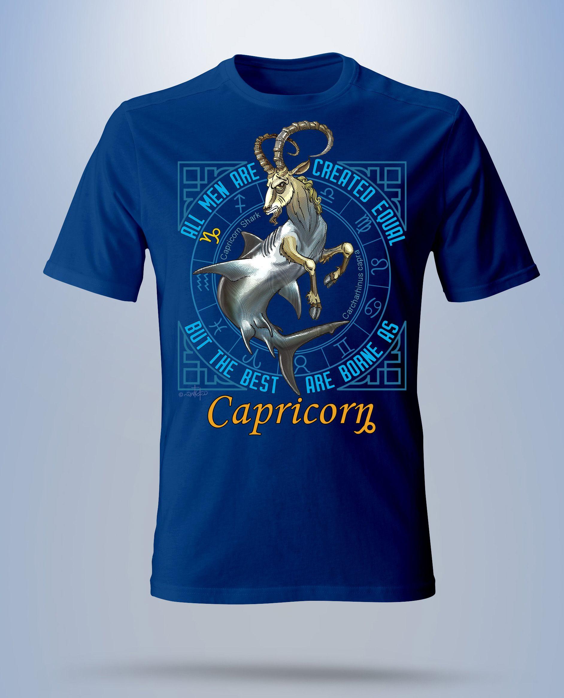 8c967b69 A unique design of Capricorn sign T shirt | Capricorn T Shirts ...