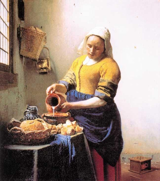 Johannes vermeer la lechera 1657 1658 le peinture - La lechera de vermeer ...