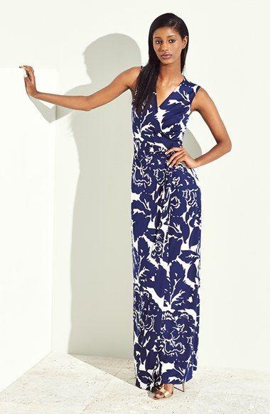 cfa1763dd91 Diane von Furstenberg  New Yahzi Two  Print Silk Wrap Maxi Dress   Love  DVF! A wrap maxi...so great.