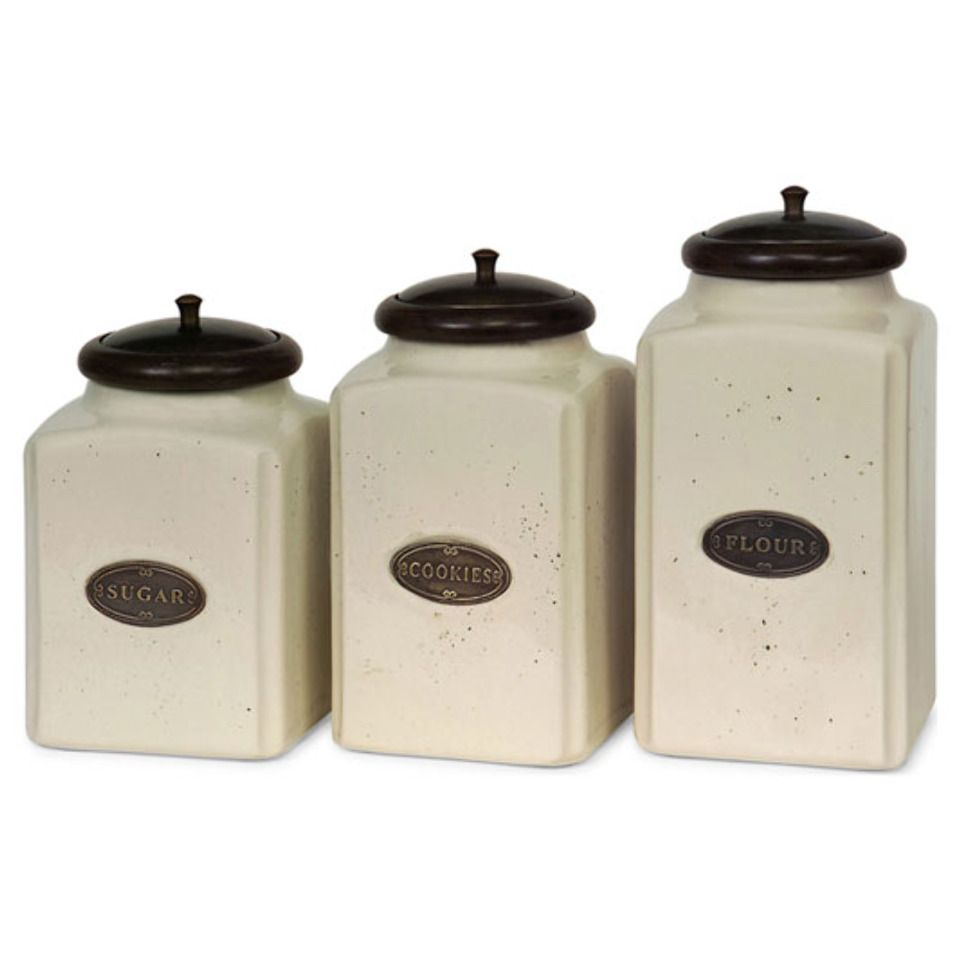 {Kitchen Canisters In Ivory}