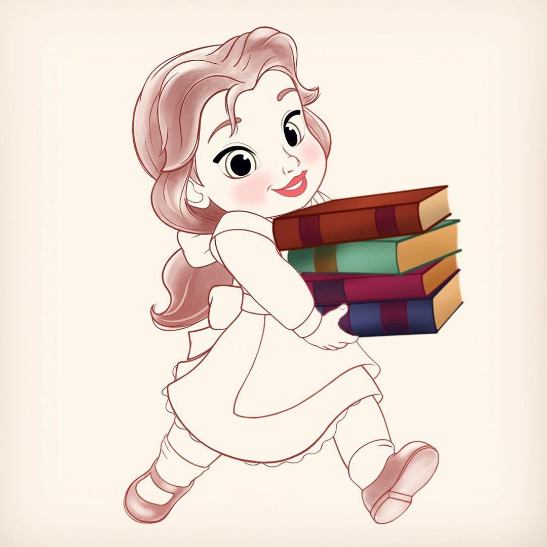 Ashley O Just Sharing A Work In Progress Of Little Belle Getting Ready For Some Light Reading Fanart In 2020 Disney Fan Art Disney Art Disney Drawings