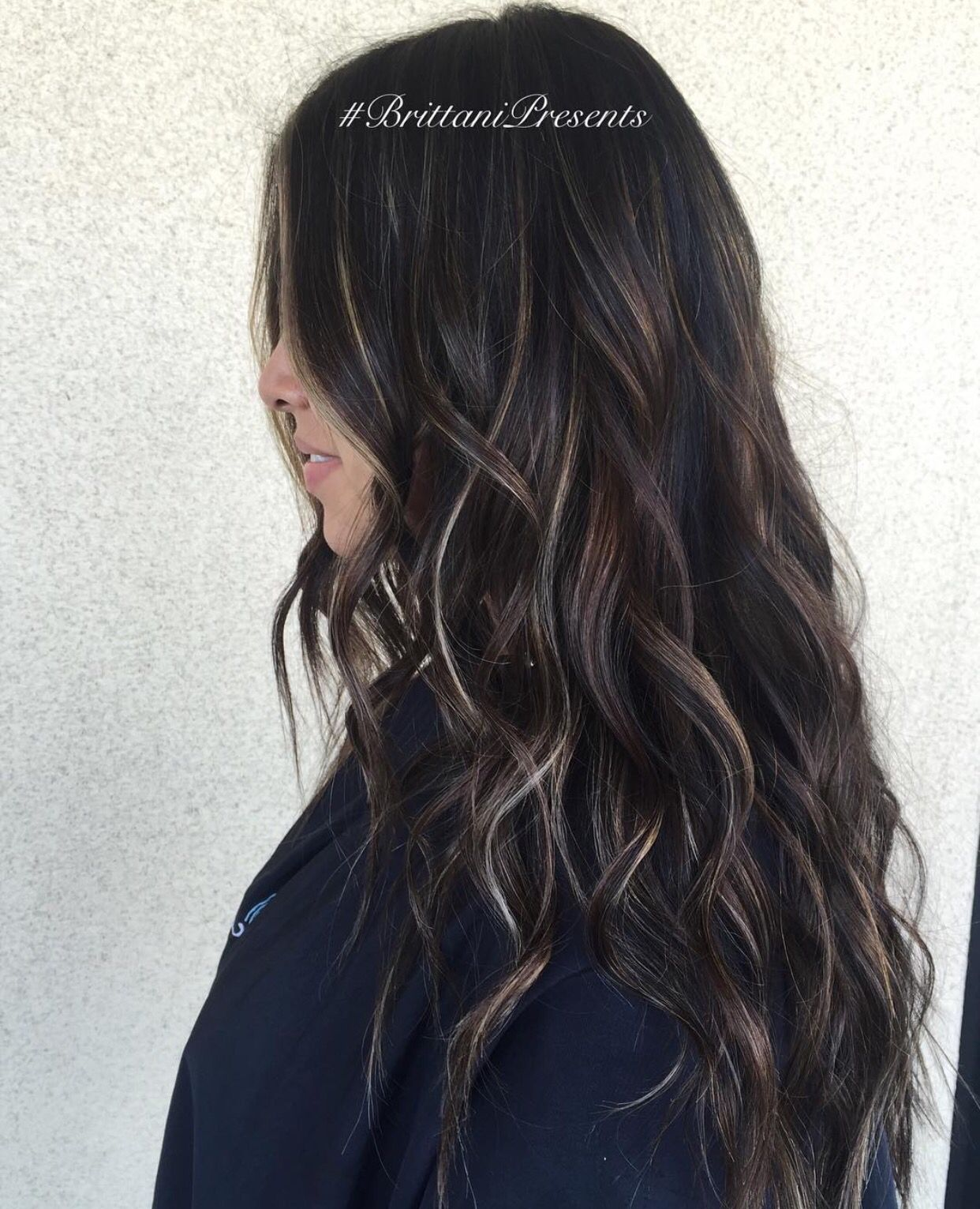 Dark Brown Brunette with pale blonde highlights | 2016 ...
