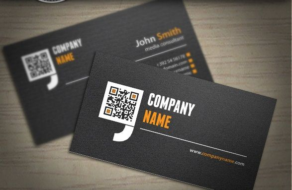 Free Qr Code Business Card Psd Design Vol 3 A Identity