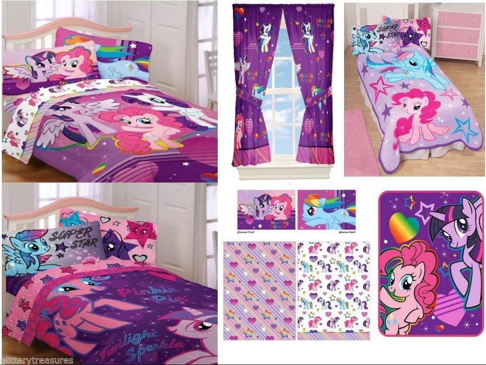 Kids Girls My Little Pony Bedding Bed In A Bag Comforter Set My Little Pony Bedding My Little Pony Bedroom Pony Bedroom