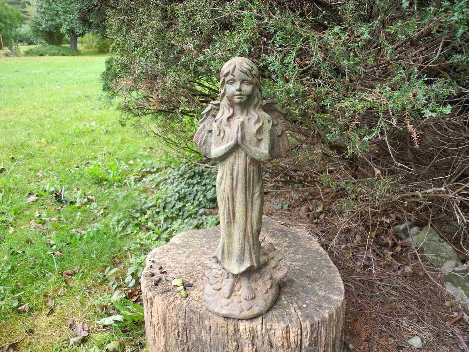 Lovely Cast Iron Garden Angel Garden Decor Outdoor Angel Statue Cast ...