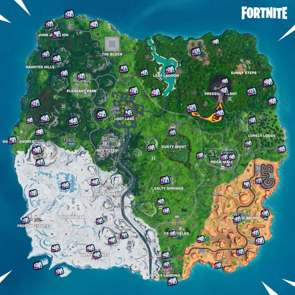 Complete Map Of Fortnite Season 9 Fortbytes Fortnite Season
