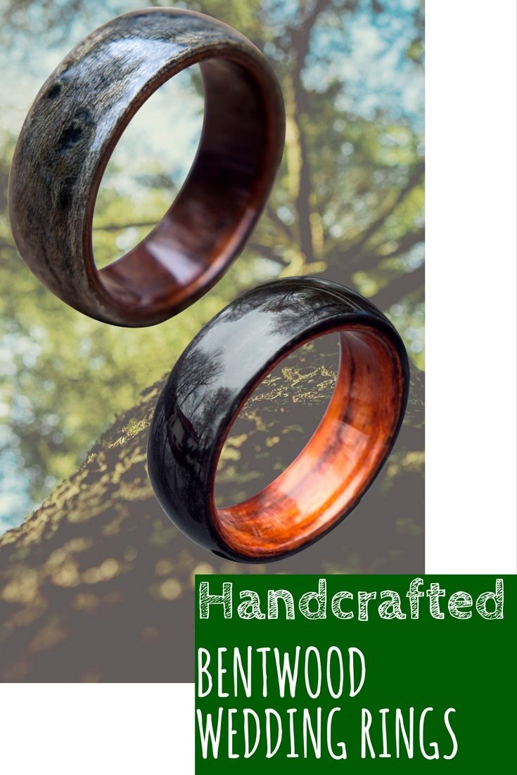 and rosewood products titanium interior ti bent exterior satin bentwood rings ring with wedding finished wood