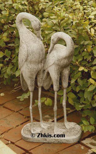 OYJJ Beautiful Bird en Fer forg/é Bird pelouse D/écoration Statue dun Jardin pelouse D/écoration