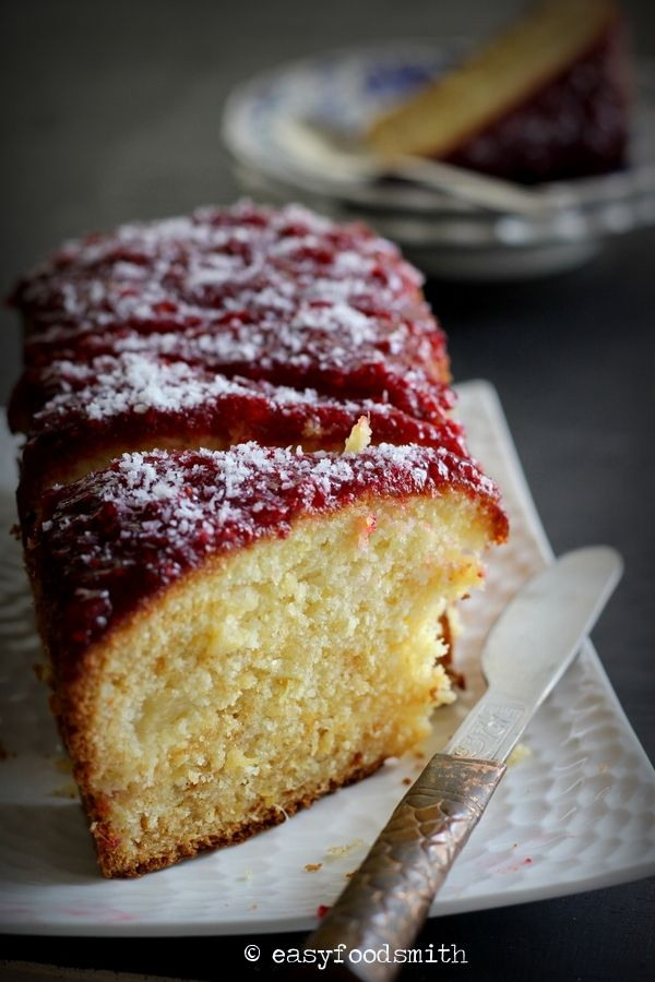 Coconut Pineapple Loaf Cake - Enjoy the fresh, cheerful, summery flavors of tropic in this cake that is annoyingly addictive