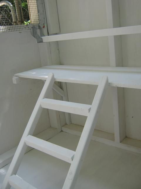 http://www.boatpartsandsupplies.com/boatladders.php has some info on the various types of boat ladders.