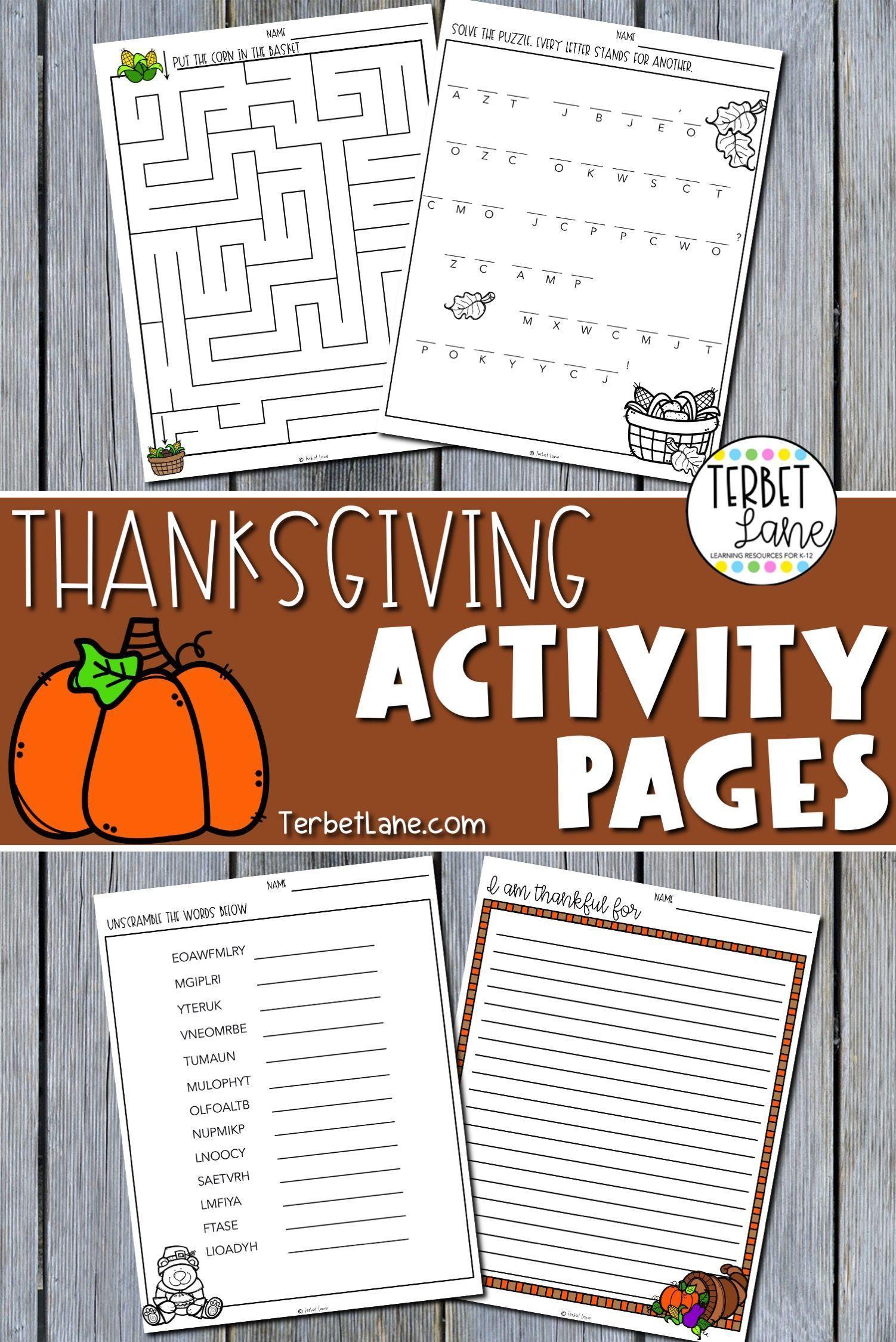 Thanksgiving Classroom Activities In 2020 Thanksgiving Classroom Activities Fall Classroom Activities Thanksgiving Classroom