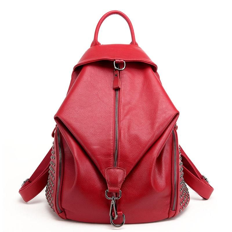 b72b6f8290 MIYSTON Riveting Leather Backpacks For Ladies. MIYSTON Riveting Leather  Backpacks For Ladies Shoulder Bags ...