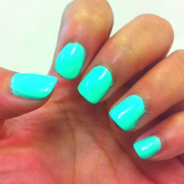 Sea Foam Green Gel Nails 3