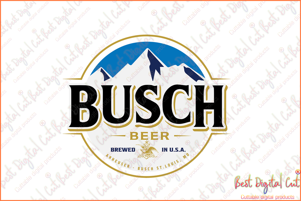Busch Light Can Svg
