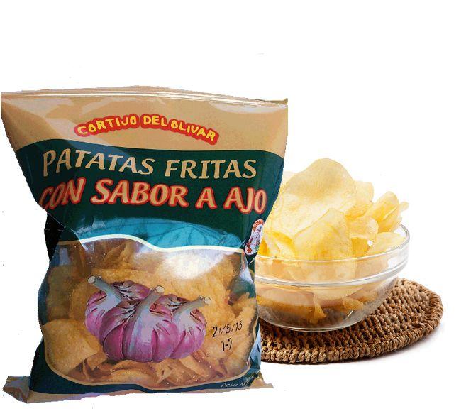 Nuestras patatas sabor #ajo tienen un sabor tan autentico que te van a sorprender. Para los amantes del ajo, estas son vuestras patatas!!   Pruébalas, son simplemente irresistibles!!! #Patatas #CortijodelOlivar