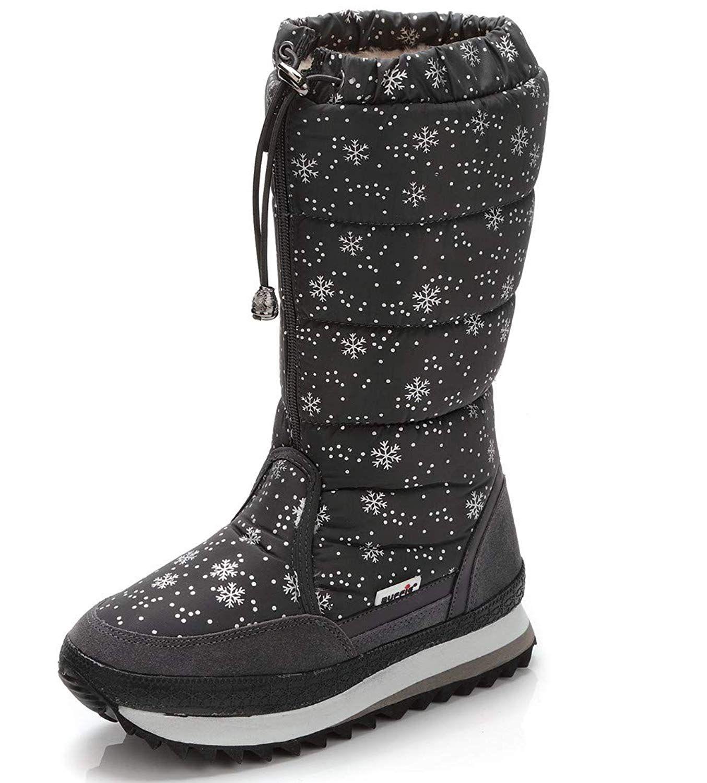 Skechers Women/'s GOdri Ultra Bounce Waterproof Winter Boots Shoes