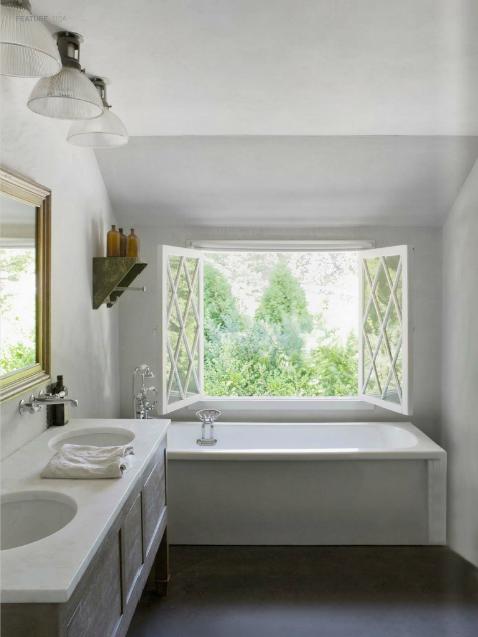 Image result for open window in bathroom