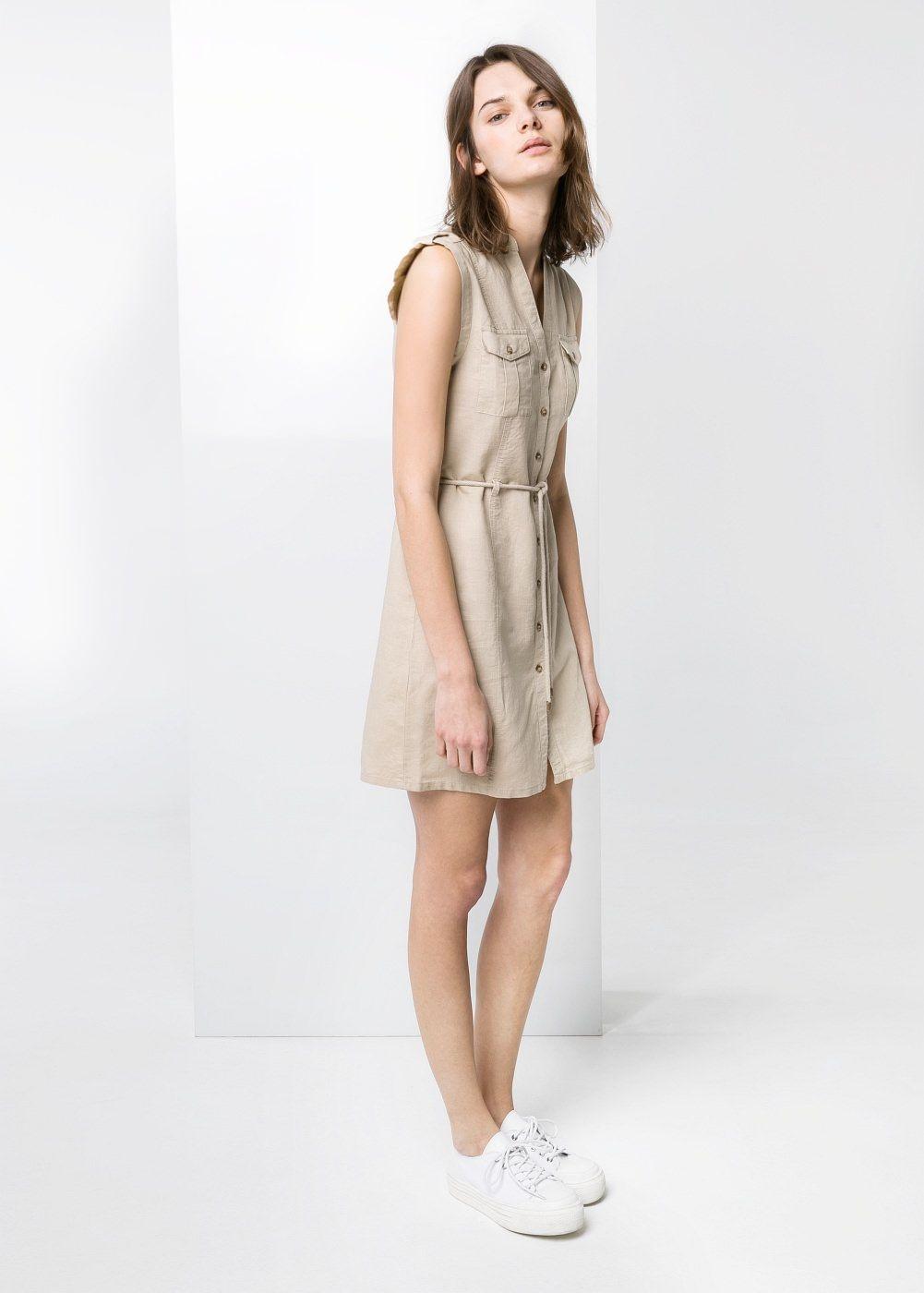 Bagcikli Gomlek Elbise Kadin Mango Turkiye Shirt Dress Mango Clothing Embroidered Dress