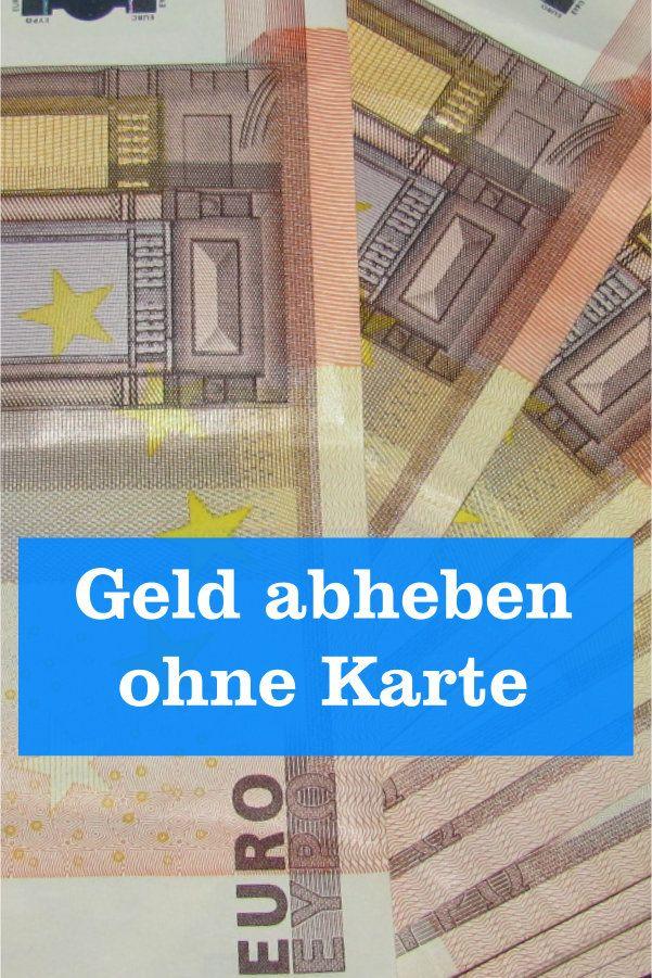 Geld Einzahlen Ohne Karte
