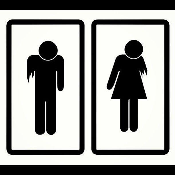 Zombie Bathroom Signs zombie bathroom signs. | halloween bathroom, holidays halloween