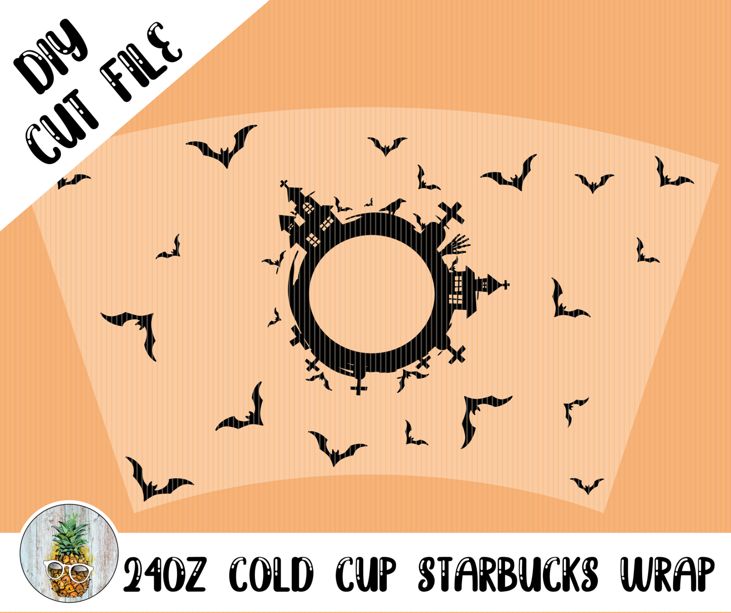 Graveyard Starbucks Cold Cup Wrap SVG in 2020 Diy