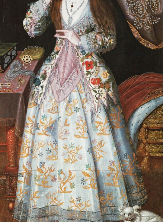 Portrait of Elizabeth Wriothesley née Vernon, Countess of Southampton, 17th Century. Detail.